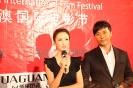 陈思成,佟丽娅在首届中澳国际电影节闭幕式上接受采访_1